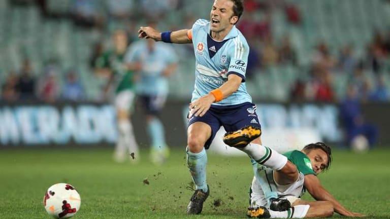 Italian job: Sydney FC skipper Alessandro Del Piero pulled the strings against the Jets.
