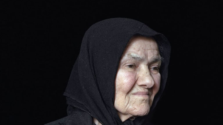 <i>The Mourners</i> features portraits of women in grief, taken by Melbourne photographer Georgia Metaxas.