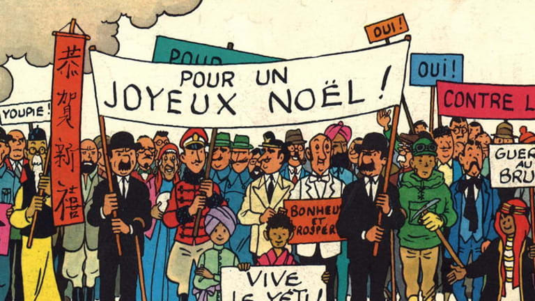 Mon dieu! ... a Christmas card from Herge.