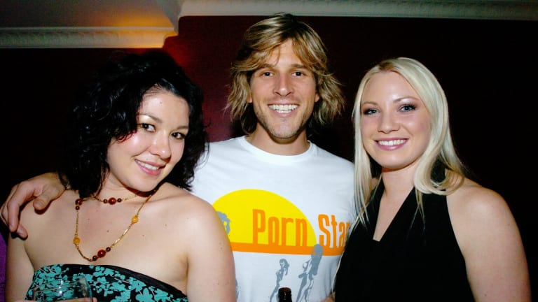 Hayley Jensen back in her Australian Idol days in 2004 with fellow contestant Chanel Cole and the show's host then Andrew G (now Osher Günsberg).
