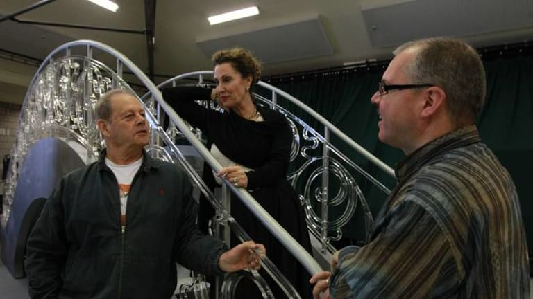 High note ... Bruce Beresford directs soprano Cheryl Barker and tenor Stefan Vinke in rehearsals for Die tote Stadt on Thursday.