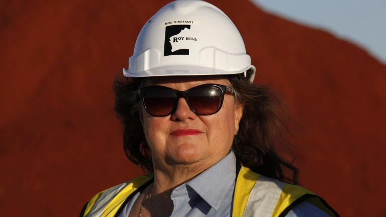 Gina Rinehart has sold her stake in Fairfax Media.