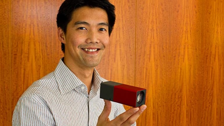Lytro founder Dr Ren Ng with the camera he invented.