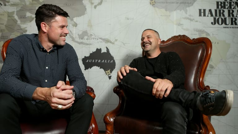 Movember co-founders Adam Garone (left) his brother Travis Garone.
