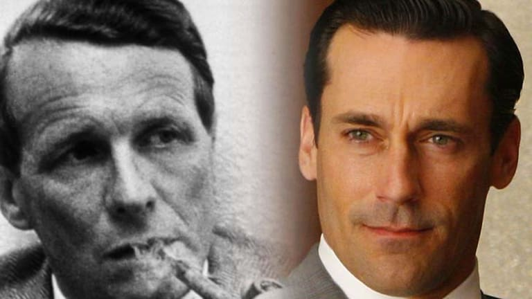 David Ogilvy (left) the father of modern advertising and character Don Draper from the TV series <i>Mad Men</i>.