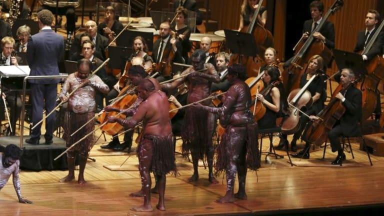 Jandamarra: dancers with the Sydney Symphony.