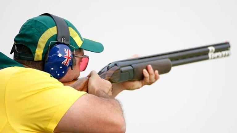Michael Diamond of Australia takes aim.