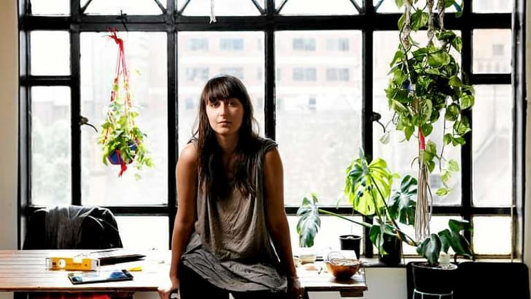 Stanislava Pinchuk, also known as Miso, at her studio in the Nicholas Building, city.