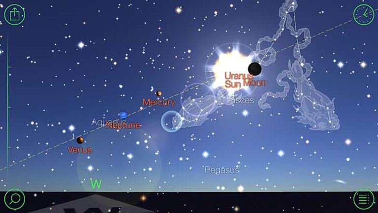 Comprehensive: A screenshot of the Star Walk app.