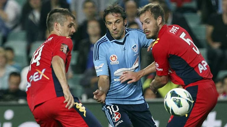 Pressure … Alessandro Del Piero's arrival at Sydney FC has led to an unprecedented rise in expectation levels at the club.