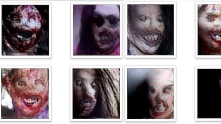 The eight scariest faces produced by the Nightmare Machine as voted by the public.
