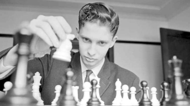 Knight moves: Max Fuller in 1964. He went on to become Australia's No.1 player and toured the world.