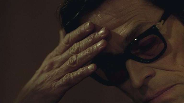 Uncanny resemblance: Willem Dafoe as Pier Paolo Pasolini in <i>Pasolini</i>.