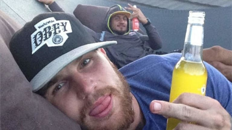 In the spotlight: Josh Dugan and Blake Ferguson on in a picture posted by Josh Dugan on Instagram.
