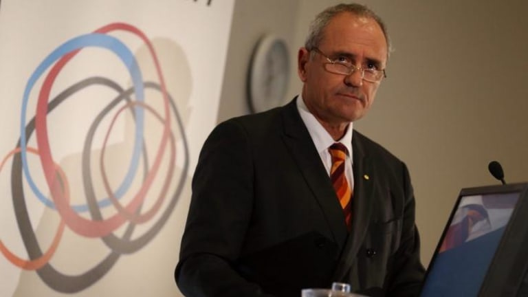 Dr Ken Henry chairman of the Public Policy Fellows program at ANU in Canberra on Tuesday.