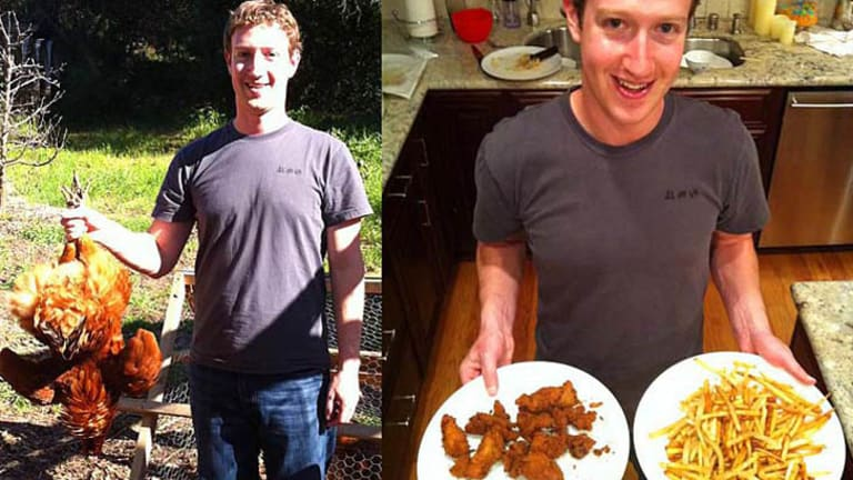 Chicken anyone? Facebook founder Mark Zuckerberg's private pictures leak on web in December 2011