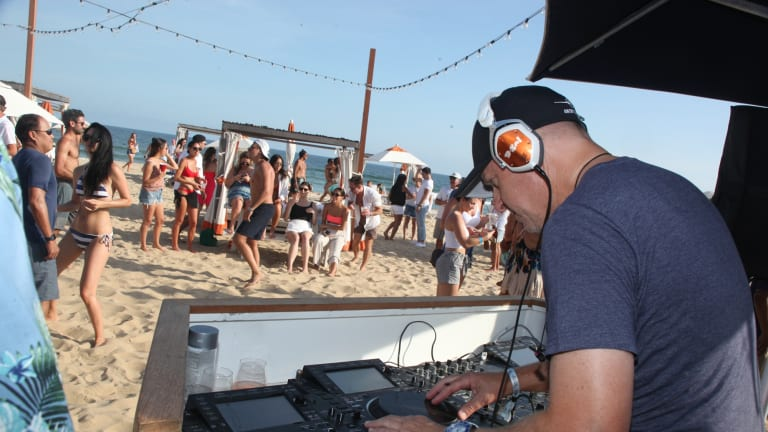 """""""I do this for fun once a month, and I'll keep doing it for fun,"""" David Solomon said in an interview on one of the decks at Gurney's Montauk Resort & Seawater Spa after his set, pictured."""