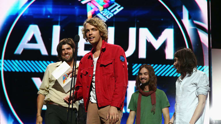Tame Impala accept the ARIA for Album of the Year.