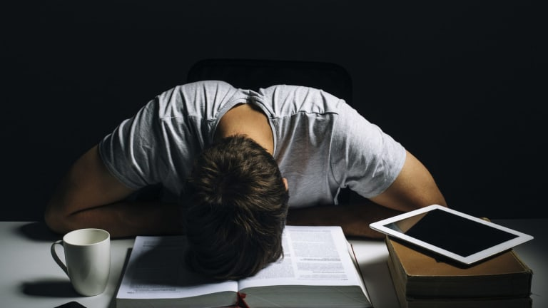 University burnout it 39 s a thing for stressed out students - One of your students left their book on the table ...