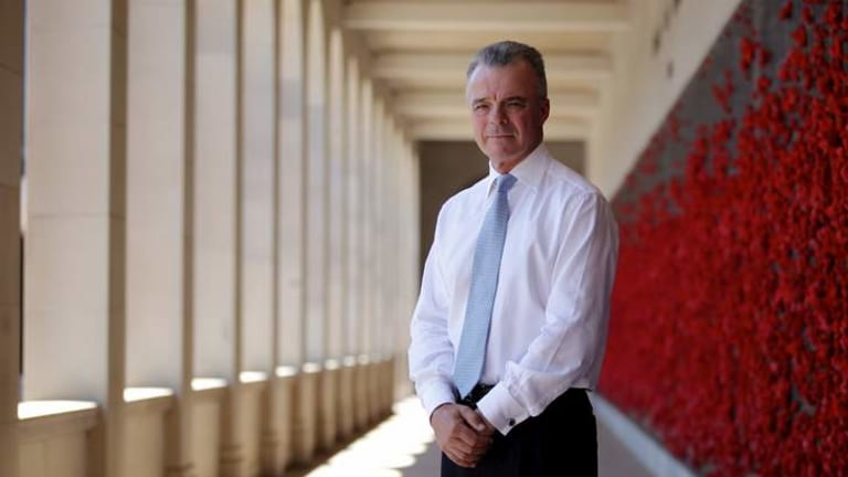 Director Brendan Nelson at the Roll of Honour.