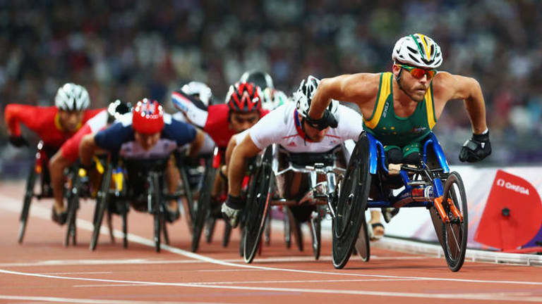 Kurt Fearnley of Australia competes in the Men's 5000m at the London 2012 Paralympic Games.