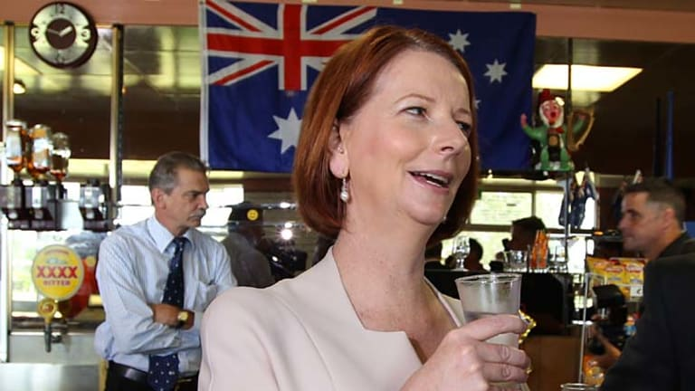Prime Minister Julia Gillard in Brisbane yesterday.