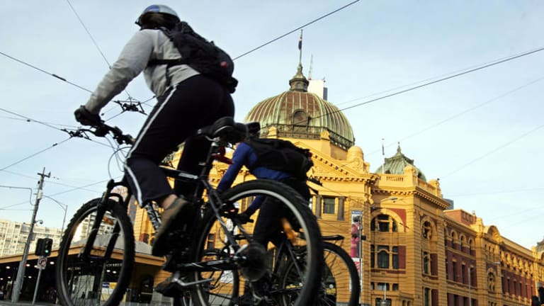 Where to put the number plate? ...  bicycles make up 11 per cent of the vehicles in the Melbourne CBD.