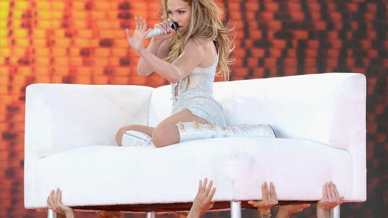 Entertainment royalty: Jennifer Lopez shows why she is considered a queen of live performance at Central Park, New York.