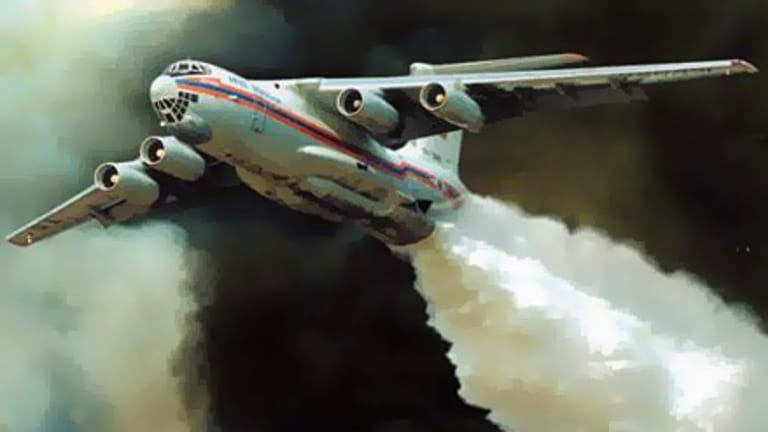The Ilyushin Il-76 airlifter.