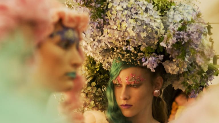 Backstage at Romance Was Born during the 2009 Rosemount Australian Fashion Week Picture by James Brickwood.