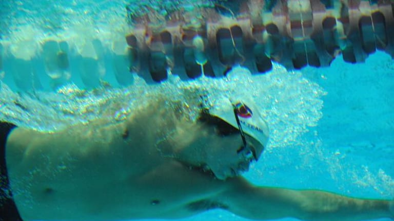 AIS swimmer Ben Treffers prepares for the national championships and  Olympic trial selections at the AIS pool.