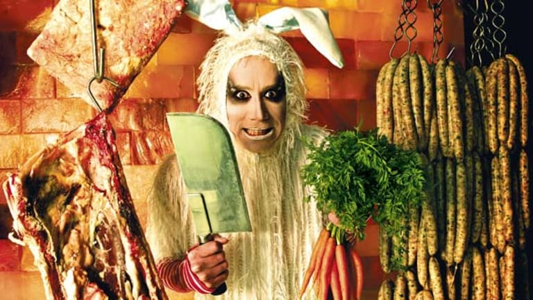 Iota in Rabbit costume. Photo by Marco Del Grande.