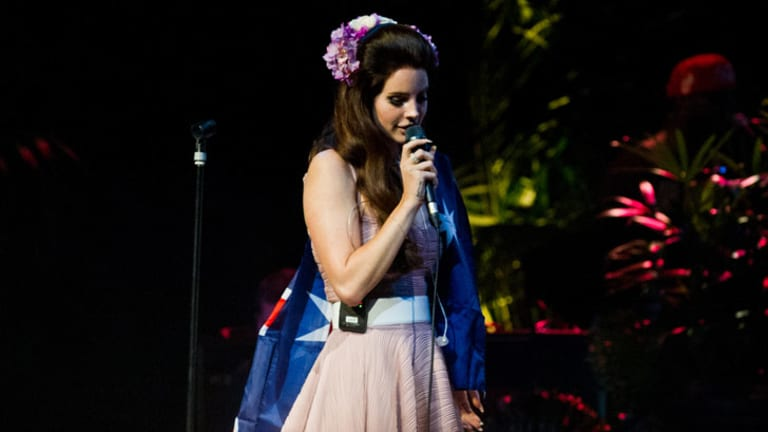 Why not? They're both red, white and blue ... Lana Del Rey at the Enmore Theatre