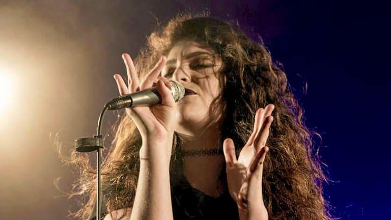 Lorde in concert.