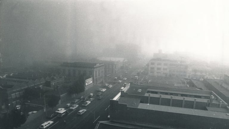 Lonsdale St, Melbourne, seconds after this picture was taken visibility dropped to zero.