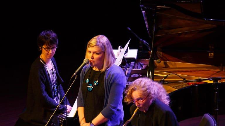 Ellen Kirkwood conducts Andrea Keller, Gian Slater and Sandy Evans.