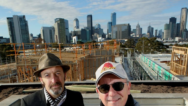 The Block creator Julian Cress (right) and architect Julian Brenchley (left).