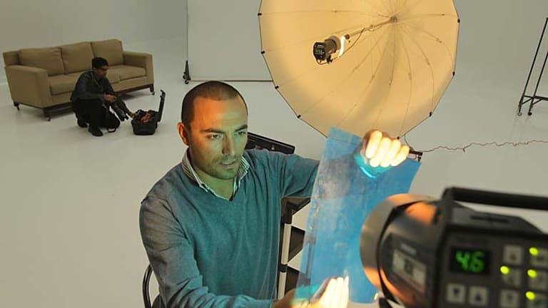 Sam D'Agostino in his Port Melbourne studio.