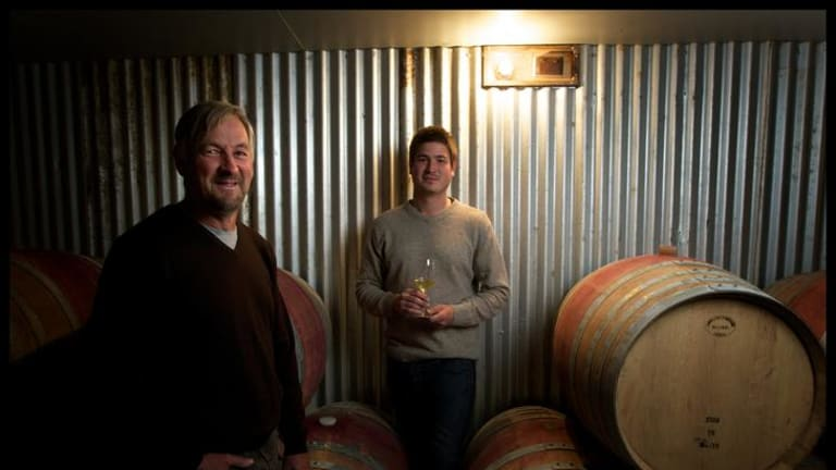 Alan Cooper and son Joshua at their Cobaw Ridge winery.