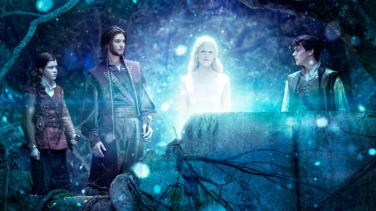 Put to the test ... Georgie Henley as Lucy, Ben Barnes as King Caspian, Laura Brent as Lilliandil and Skandar Keynes as Edmund in the film of C.S Lewis's novel.