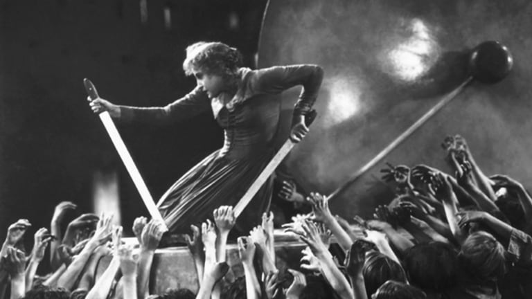 A dramatic moment in Fritz Lang's 1927 masterpiece Metropolis.