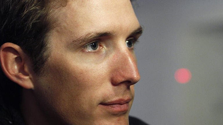New winner ... Rival Andy Schleck will be awarded Contador's the 2010 Le Tour title.