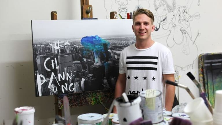 Queensland artist Jake Hart, the grandson of art legend Pro Hart and the son of David Hart, wants to make his own mark on the art world.
