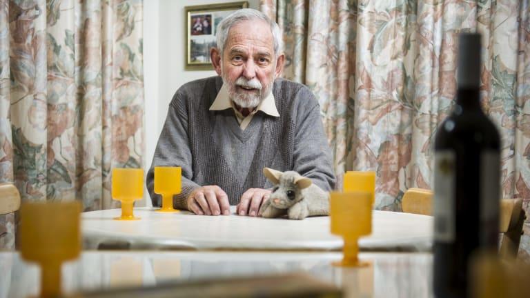 Democracy at home: Professor Bob Douglas at home in Aranda.