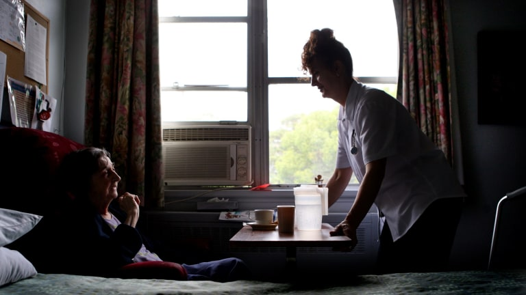 Registered nurses now account for fewer than 15 per cent of the residential aged-care workforce.