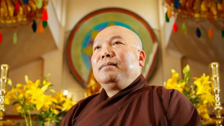 Thich Quang Ba came to Australia in 1983 from Vietnam. In 1984 he started up the Sakyamuni Buddhist Centre in Lyneham which houses refugees in Canberra.