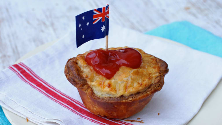 Meat pies are an  Australian favourite.