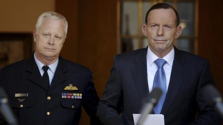 Air Chief Marshal Mark Binskin, left, with Prime Minister Tony Abbott.