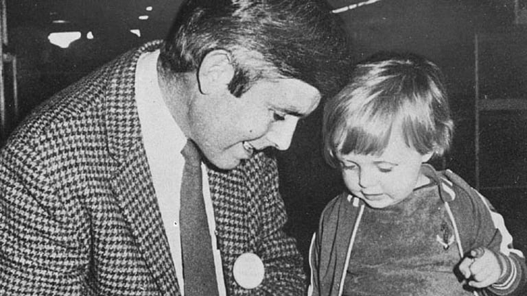 Griffith businessman, Liberal party candidate and Griffith businessman and unsuccessful Liberal Party candidate Donald Mackay on the campaign trail in 1976.