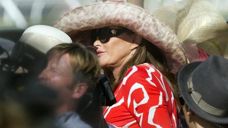 Caitlyn Jenner at the races in California this week.